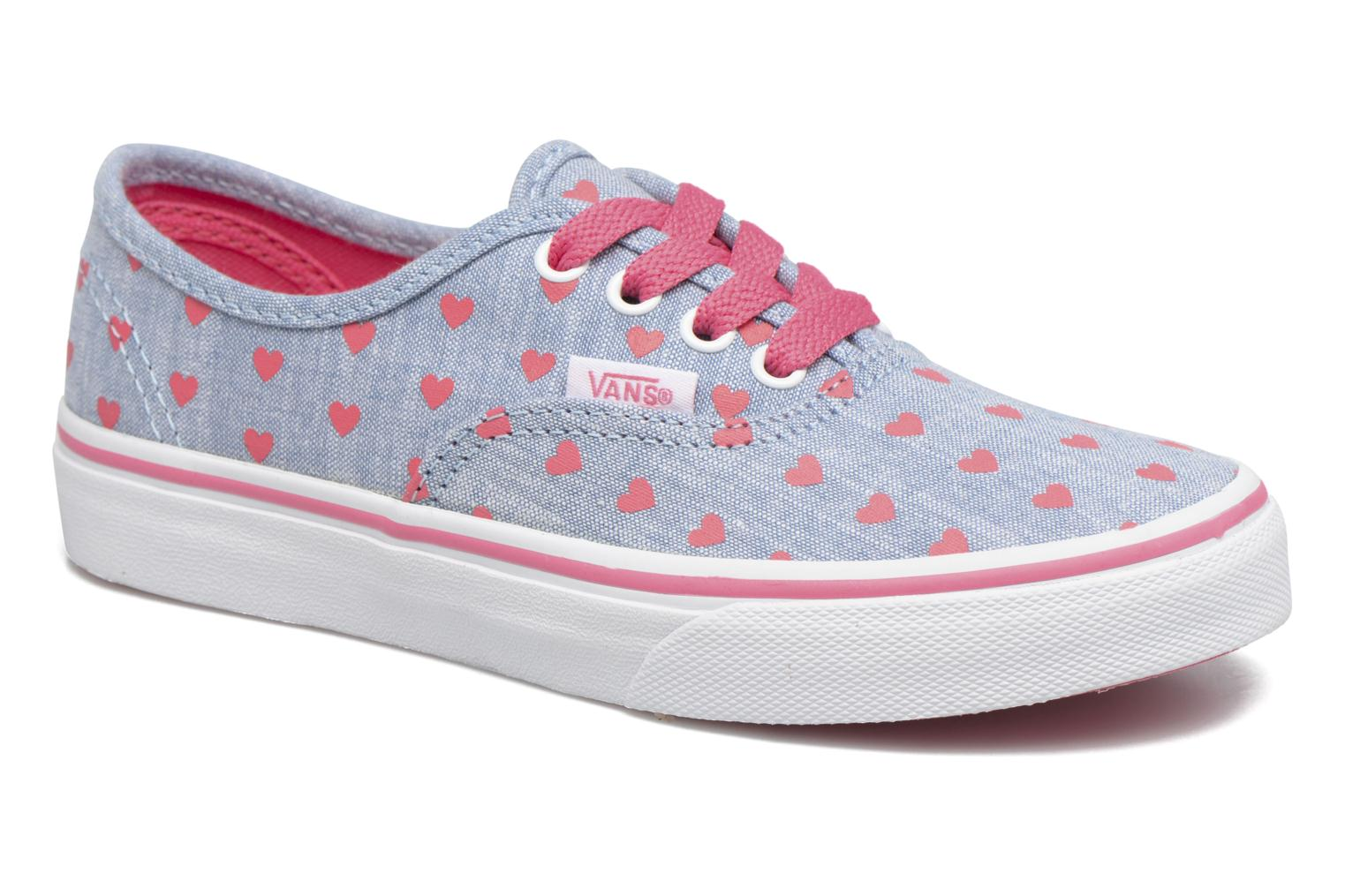 Baskets Vans Authentic E Bleu vue détail/paire