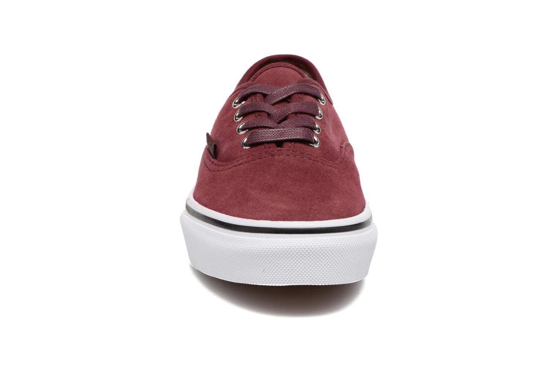 Baskets Vans Authentic E Bordeaux vue portées chaussures