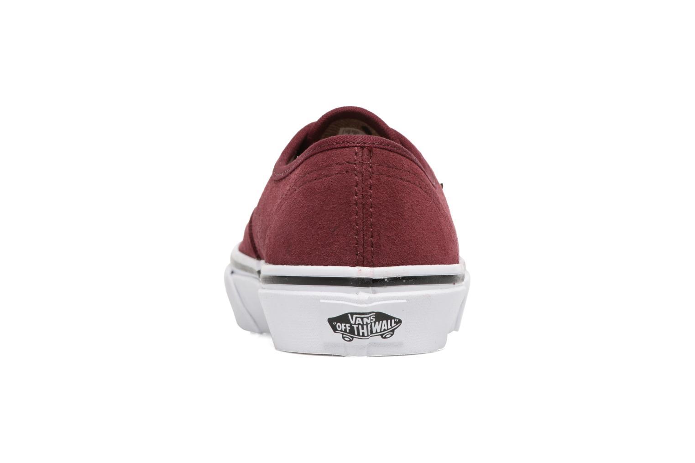 Baskets Vans Authentic E Bordeaux vue droite