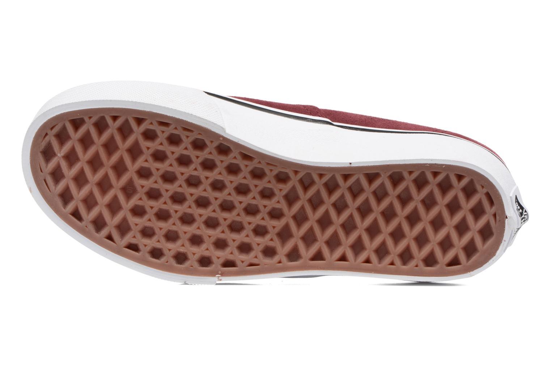 Baskets Vans Authentic E Bordeaux vue haut