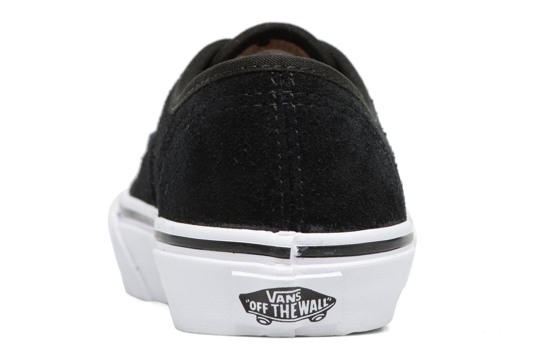 Baskets Vans Authentic E Noir vue droite