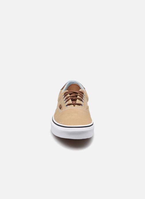Baskets Vans Era 59 Beige vue portées chaussures