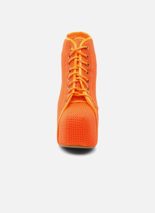 Stivaletti e tronchetti Jeffrey Campbell Lita Arancione modello indossato