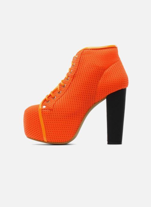 Ankle boots Jeffrey Campbell Lita Orange front view