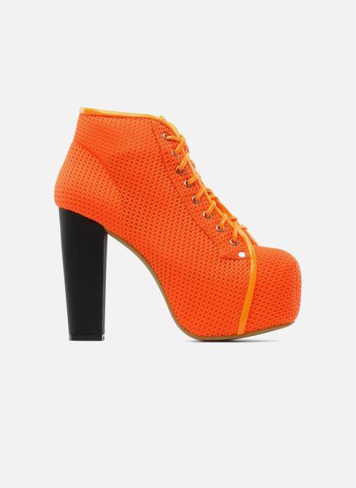 Ankle boots Jeffrey Campbell Lita Orange back view