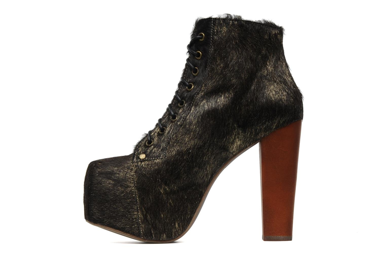Ankle boots Jeffrey Campbell Lita Bronze and Gold front view