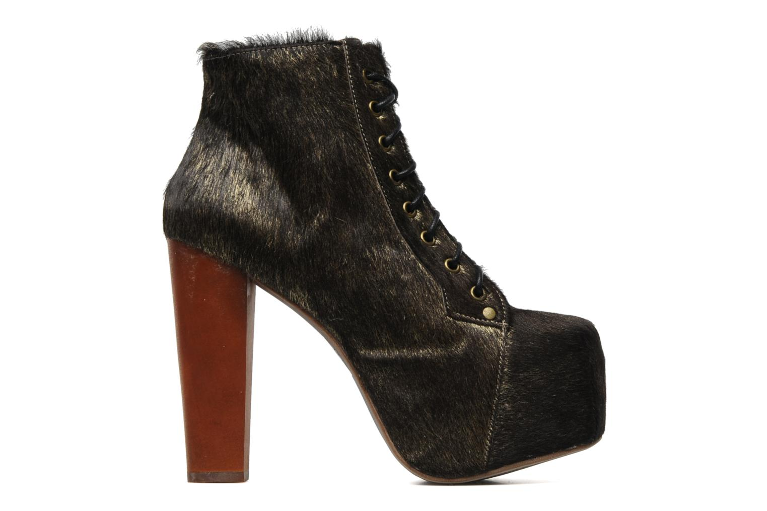 Ankle boots Jeffrey Campbell Lita Bronze and Gold back view