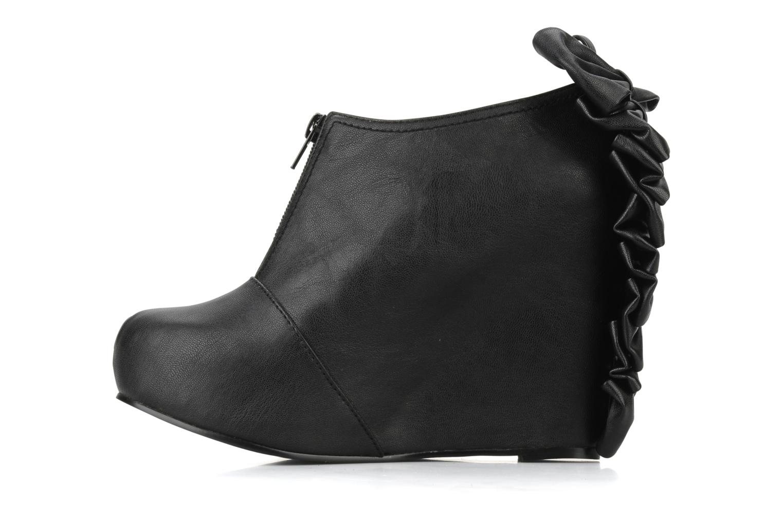 Bottines et boots Jeffrey Campbell Back bow Noir vue face