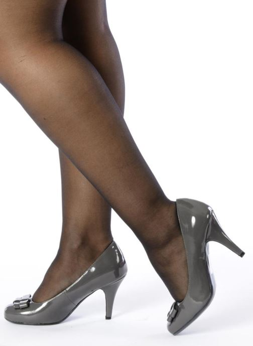 High heels I Love Shoes Woolver Grey view from underneath / model view