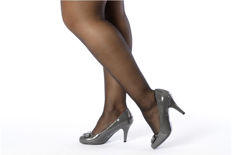 Escarpins I Love Shoes Woolver Gris vue bas / vue portée sac