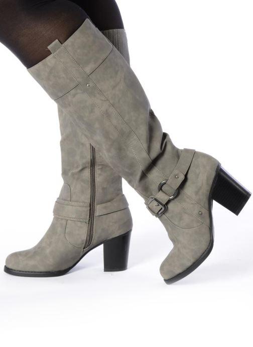 Bottes I Love Shoes Clarita Noir vue bas / vue portée sac
