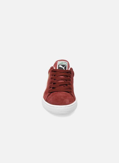 Baskets Puma Suede Classic + Bordeaux vue portées chaussures