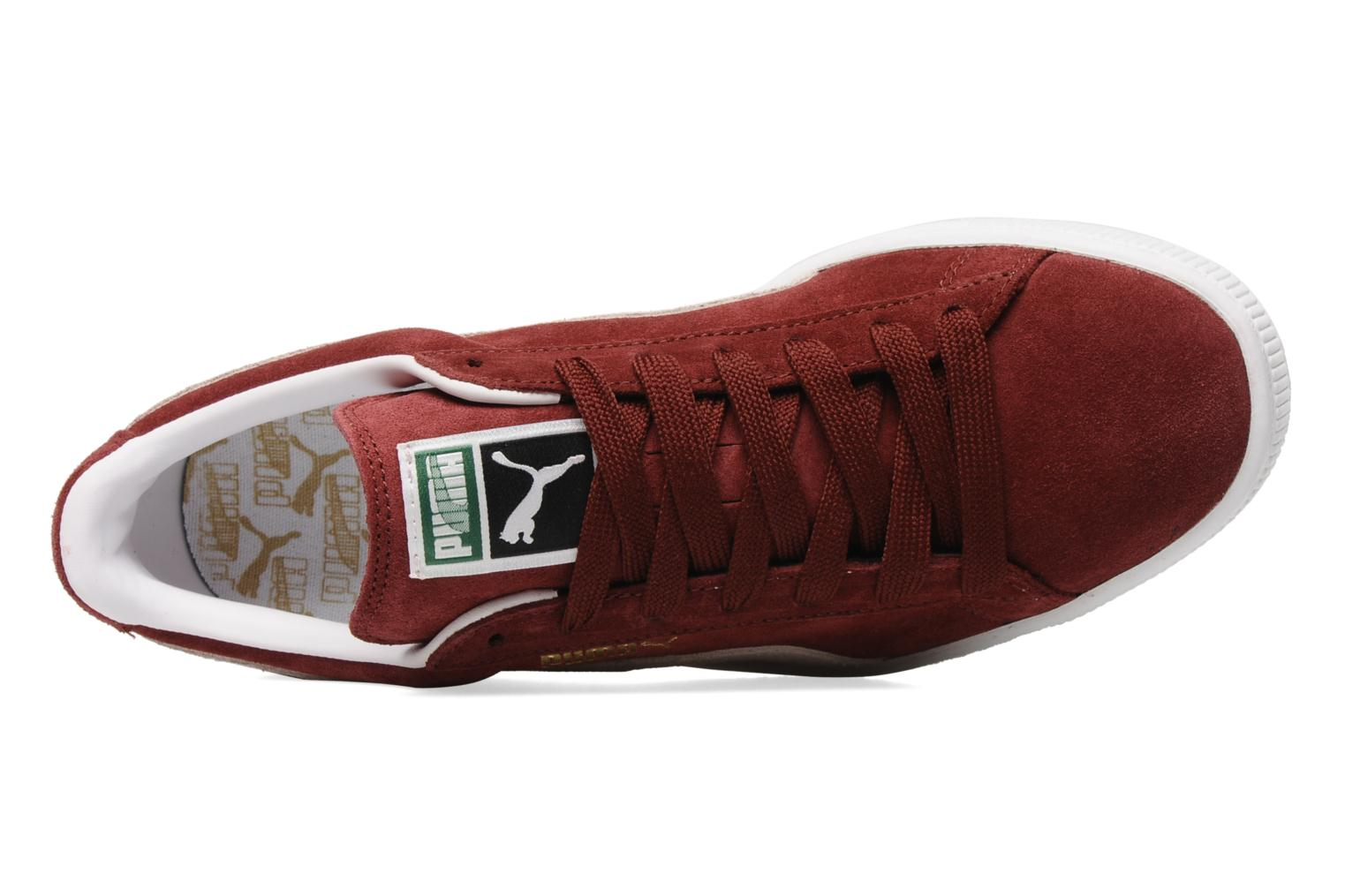 Trainers Puma Suede Classic + Burgundy view from the left