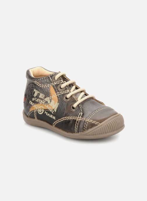 Ankle boots GBB Babyboy 152 Brown detailed view/ Pair view