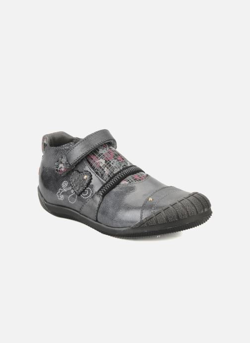 Velcro shoes GBB Kidgirl 201 Grey detailed view/ Pair view