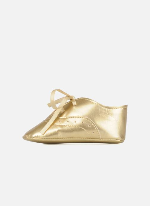 Chaussons Rose & Martin Dida Or et bronze vue face