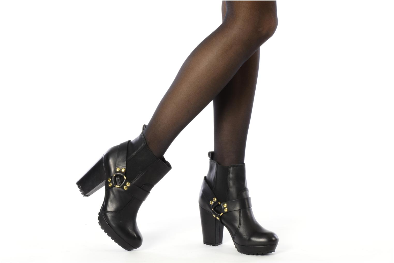 Bottines et boots French Connection Joby Noir vue bas / vue portée sac