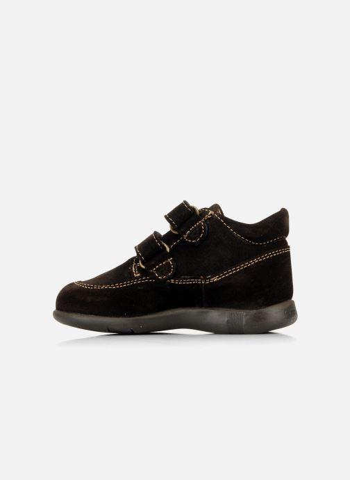 Zapatos con velcro Primigi Rusty Marrón vista de frente