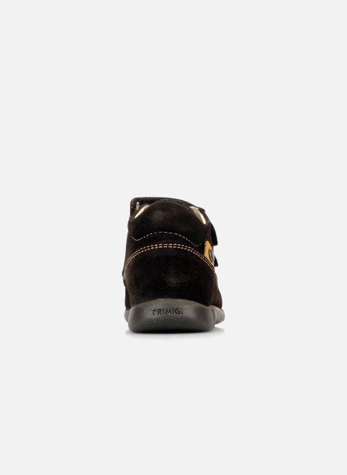 Zapatos con velcro Primigi Rusty Marrón vista lateral derecha