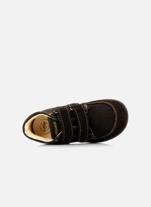 Zapatos con velcro Primigi Rusty Marrón vista lateral izquierda