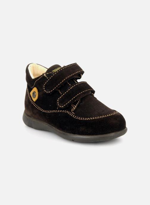 Chaussures à scratch Primigi Rusty Marron vue détail/paire