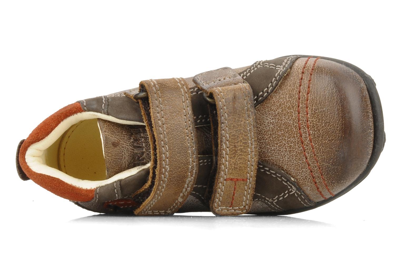 Chaussures à scratch Primigi Leroy Marron vue gauche