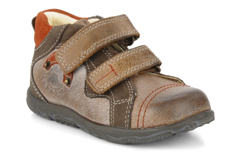Chaussures à scratch Primigi Leroy Marron vue détail/paire