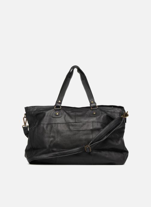 Handtassen Pieces Totally Royal leather Travel bag Zwart voorkant