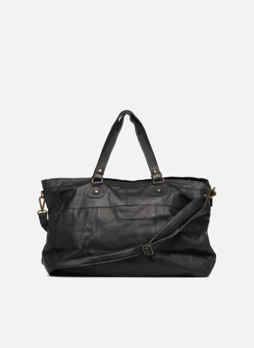 Sacs à main Pieces Totally Royal leather Travel bag Noir vue face
