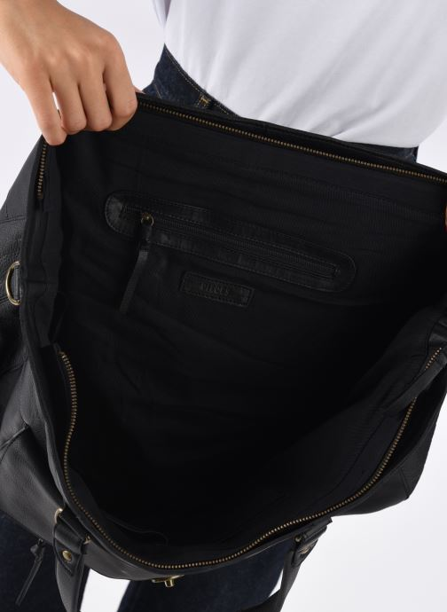Bolsos de mano Pieces Totally Royal leather Travel bag Negro vistra trasera