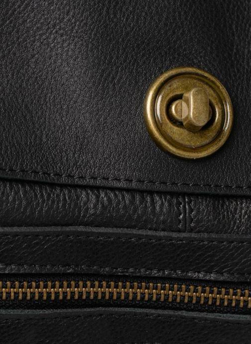 Handtaschen Pieces Totally Royal leather Travel bag schwarz ansicht von links