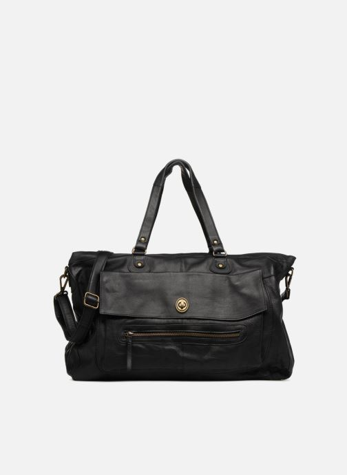Handtassen Pieces Totally Royal leather Travel bag Zwart detail