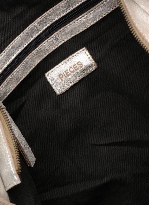 Håndtasker Pieces Totally Royal leather Travel bag Sølv se bagfra