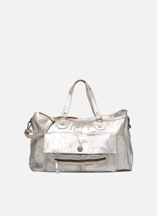 Håndtasker Pieces Totally Royal leather Travel bag Sølv detaljeret billede af skoene