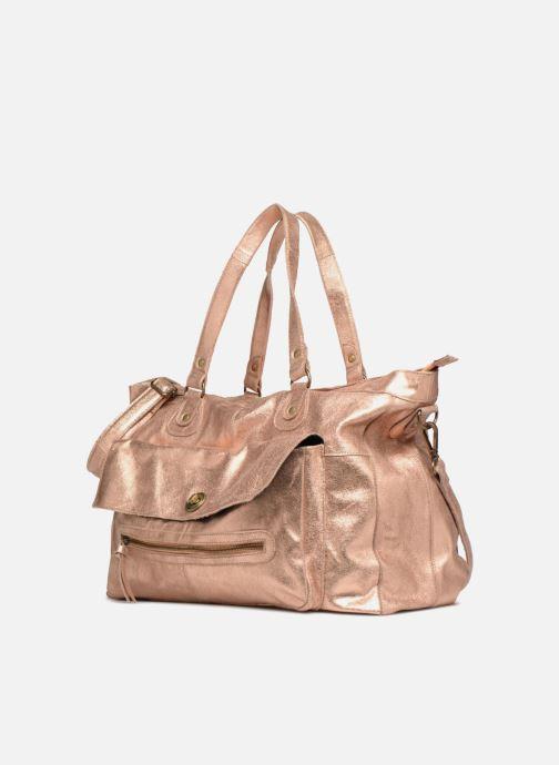 Sacs à main Pieces Totally Royal leather Travel bag Or et bronze vue portées chaussures