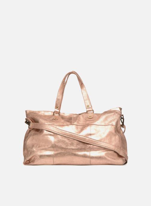 Sacs à main Pieces Totally Royal leather Travel bag Or et bronze vue face