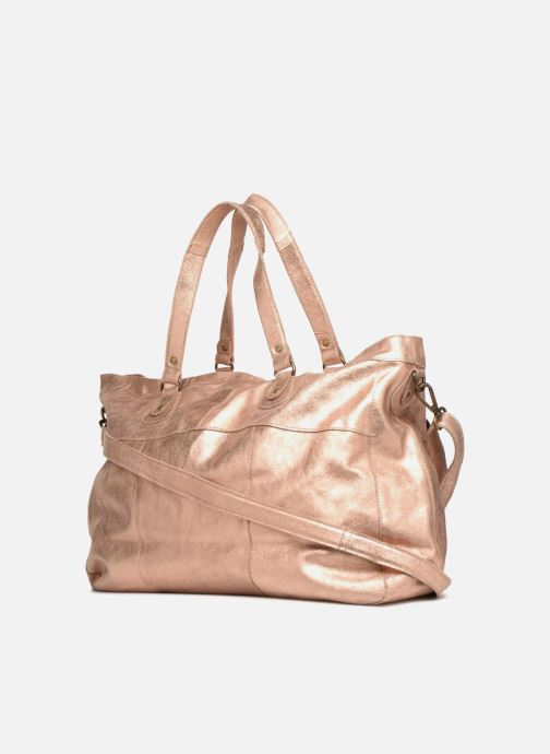 Sacs à main Pieces Totally Royal leather Travel bag Or et bronze vue droite