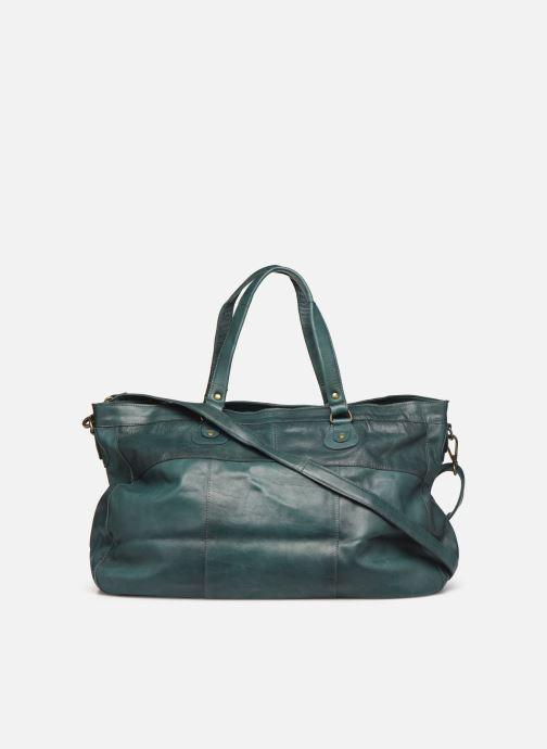 Handtassen Pieces Totally Royal leather Travel bag Groen voorkant