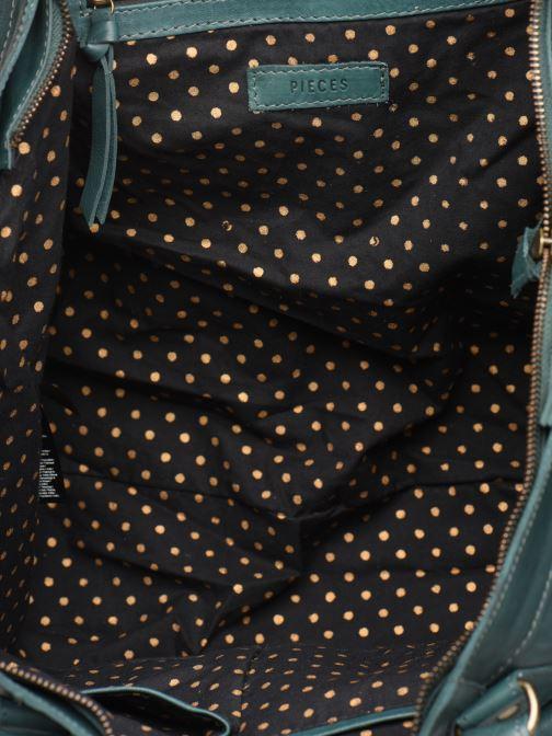 Handtassen Pieces Totally Royal leather Travel bag Groen achterkant