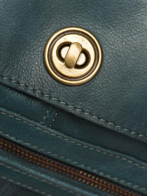 Handtassen Pieces Totally Royal leather Travel bag Groen links