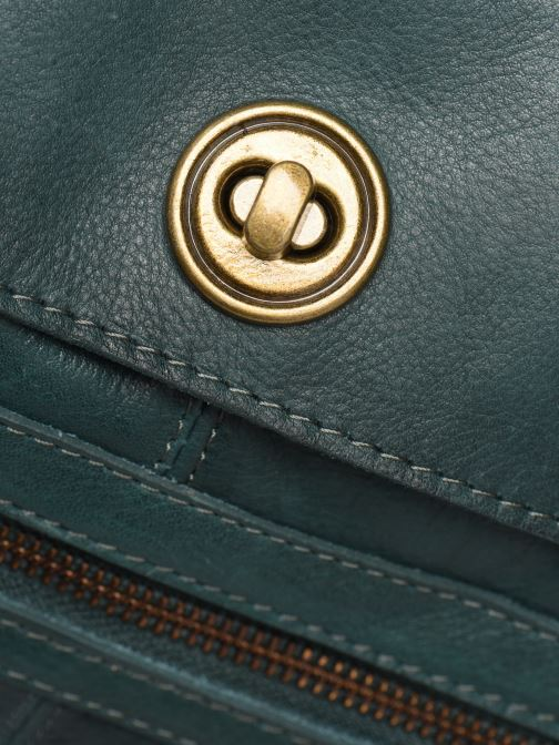 Handtassen Pieces Totally Royal leather Travel bag Groen links