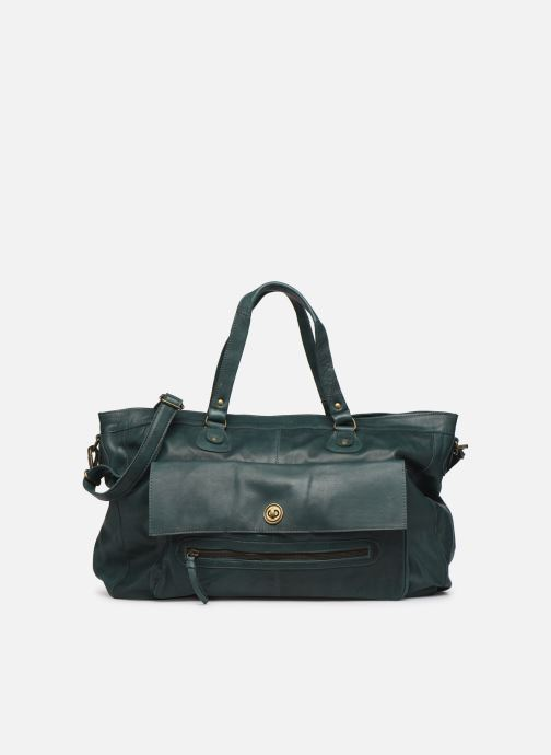 Handtassen Pieces Totally Royal leather Travel bag Groen detail