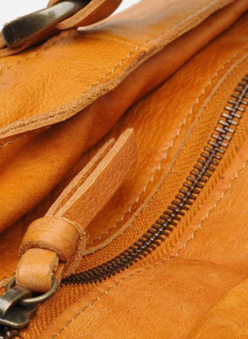 Handtassen Pieces Totally Royal leather Travel bag Bruin achterkant