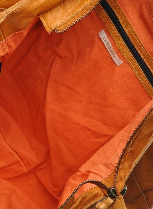 Handtassen Pieces Totally Royal leather Travel bag Bruin links