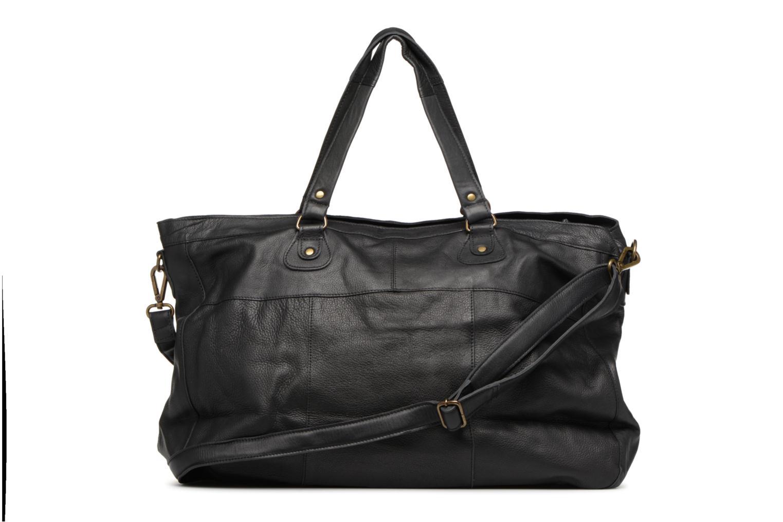 Handtaschen Pieces Totally Royal leather Travel bag schwarz ansicht von vorne
