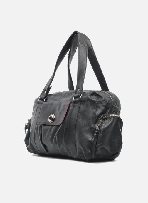 Handtassen Pieces Totally Royal leather Small bag Zwart model