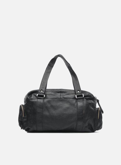 Handtassen Pieces Totally Royal leather Small bag Zwart voorkant