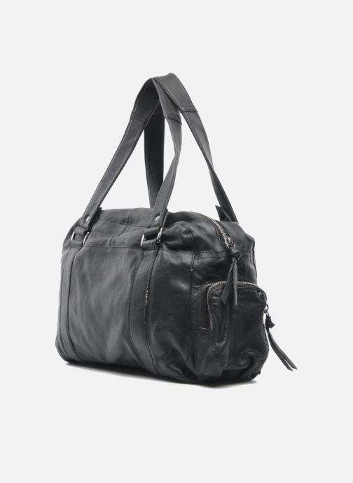 Handtassen Pieces Totally Royal leather Small bag Zwart rechts