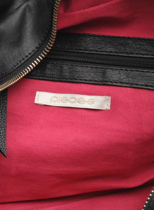 Handtassen Pieces Totally Royal leather Small bag Zwart achterkant