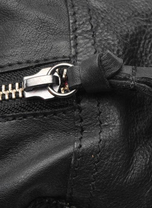 Handtassen Pieces Totally Royal leather Small bag Zwart links